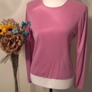100% Silk, gorgeous color light weight sweater.